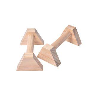 AITOCO Parallettes Holz 2er Set Push Up Bar Calisthenics Handstand Einzel Doppelgriffe Yoga /Übungsstange Kopfstand Regal Push-Ups Double Rod
